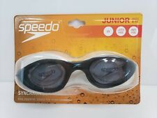 Speedo Synchronizer Junior Goggles Black Age 6-14