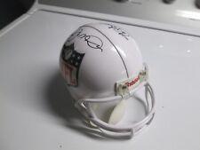 NFL Joe Montana & Steve Young Autographed White NFL Mini Football Helmet