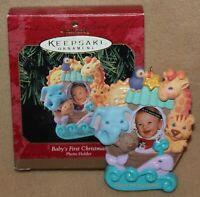 Hallmark Keepsake Ornament Baby's First Christmas Photo Holder Noah's Ark 1999