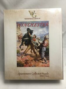 Winchester Puzzle 1000 Pc Hold Em Steady Cowboy Western Horses Sportsman's WG