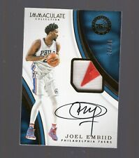 2016-2017 Panini Immaculate Joel Embiid Patch Auto #22/40 76ers