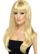 Blonde Babelicious Wig Long Straight Adult Womens Smiffys Fancy Dress Costume