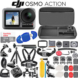 DJI Osmo Action 4K HDR Waterproof Camera + SanDisk Ultra 32GB Card + Osmo Bundle