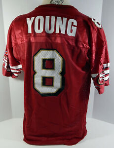 San Francisco 49ers Steve Young #8 Authentic Red Jersey Champion NWT 48 628