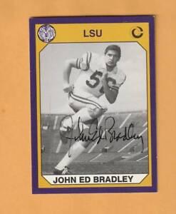 John Ed Bradley LSU Tigers AUTO Signed 1990 card Opelousas Louisiana 4X