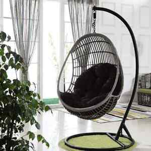 Hanging Rattan Swing Weave Egg w/ Cushion In Outdoor  Patio Garden Chair