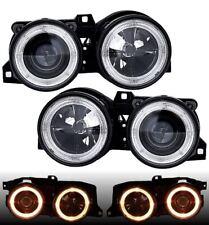 ANGEL EYES Headlights in clear BLACK FINISH for 3 series BMW E30 82-94 RHD LHD