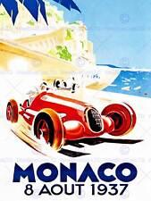 Pubblicità Auto da Corsa MONACO 1937 GRAND PRIX NUOVO art print poster foto cc2604