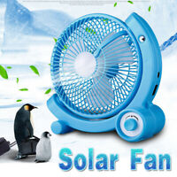 3000mAh Portable 3 Blade Speed Solar Panel Power Fan Stepless Control