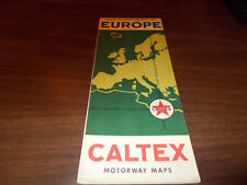 1950s Caltex Europe Tour Planning Map and Guide / Nice Graphics