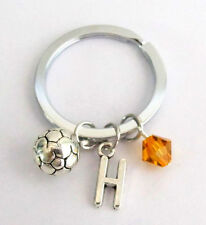 Soccer Sport Keychain Soccer team Gift Personalized Initial Soccer Charm Keyring