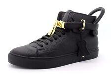 Buscemi da uomo EU 42 UK 8 100 mm nero in pelle dettagli in oro Lucchetto sneaker alte