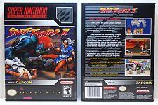 Street Fighter II 2 - Super Nintendo SNES Custom Case *NO GAME*