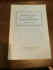 1941 Cummings  Davis & His Concord Furniture, Concord Museum Antiquarian Society