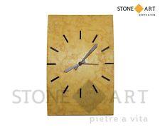 Orologio da parete in pietra naturale scolpita a mano