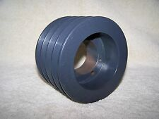 """BROWNING 4 GROOVE V-BELT SHEAVE PULLY 5 3/16"""" OUTSIDE DIA 3 5/16"""" WIDTH"""