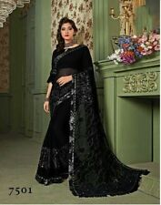 Indian Designer Bollywood wedding party Georgette Saree with Sari for fashion