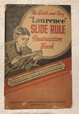 Lawrence Slide Rule Instruction Book 1939 Quick & Easy