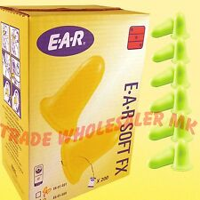 400 FOAM EAR PLUGS 200 PAIRS OF EAR SOFT FX EARPLUGS