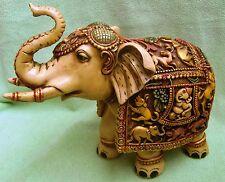 VINTAGE CAMEL BONE/MARBLE DUST WILD ANIMAL ELEPHANT STATUE VERY FINE CARVING