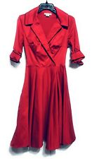 Deadly Dames Sz XS Haunted Housewife Swing Dress Pinup Couture Red Michelle Pitt