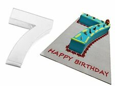 EuroTins Large Number 7 SEVEN Cake Baking Tin Pan Seventh Birthday Anniversary