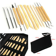 14pcs Clay Sculpting Wax Carving Pottery Tools Polymer Ceramic Modeling Kit New