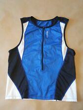 Sugoi Mens Size Xl Turbo Tri Tank Olympian 1/2 Zip Blue Black White