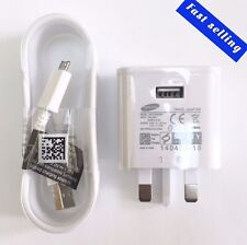 Samsung UK Adaptive Fast Charger & USB Galaxy S5 S6 S7 Edge Note 4 3 2 1