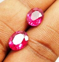 5.00 Natural Ct Madagascar Unheated Red Ruby Oval Shape Loose Gems Pair C 8034