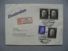 GERMANY REICH, R-cover 11-12-1943, spec. canc Koch TB Nobelprice