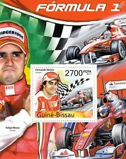 FERNANDO ALONSO & Massa Formula One F1 GP Ferrari Racing Car Driver Stamp Sheet