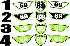 2010-2015 Kawasaki KLX110 KLX 110 Number Plates Side Panels Graphics Decal