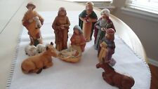 Vintage Midwest Importers 11 Piece Christmas Nativity