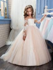 d408686a6 Flower Girl Dress Bridesmaid Wedding Communion Pageant Party Graduation  Dress