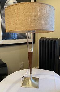 Mid Century Lamp, Gerald Thurston, Laurel, Original Shade,diffuser,reflector