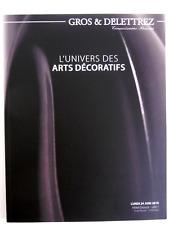 ARTS DÉCORATIFS catalogue vente GALLÉ CHIPARUS LELEU PERZEL PUIFORÇAT PERRIAND