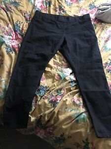 Ladies Primark Black Denim Stretch Jeggings/Jeans Plus Size 20 Short Leg 28""