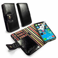 Engraved Alston Craig Slim Magnetic Leather Case Wallet for iPhone X / XS-Black