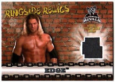 WWE Edge 2008 Topps Ultimate Rivals Ringside Relic Event Worn Shirt Card Grey