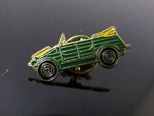 KUBELWAGEN ENAMELED GREEN CAR BADGE PIN CLIP