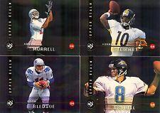 1998 UD3 FOOTBALL UR FX 4-CARD LOT BLEDSOE / BRUNNELL / STEWART / MURRELL