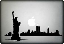 NEW YORK Skyline Statue of Liberty Mac Book Vinyl Decal Sticker fits all
