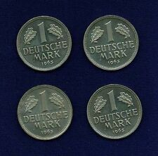 GERMANY   1965-G  1 MARK PROOF  COINS, PRISTINE GROUP LOT OF (4)!
