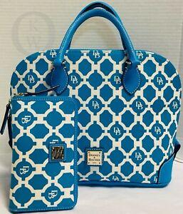 ~Dooney & Bourke*Blue*Sanibel*Zip Zip*Satchel & Wallet*21170i S168