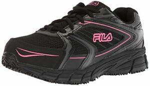 Fila Women's Memory Reckoning 8 Slip Resistant Steel Toe Running Shoe Food Se...