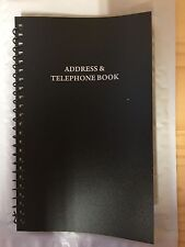 ADDRESS AND PHONE BOOK BLACK VINYL COVER NEW