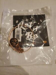 Alex and Ani Let It Be Charm Bangle Bracelet - Rafaelian Rose Gold NWT $39