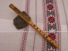 Carved SOPILKA willow + bag, Ukrainian Chromatic soprano Flute recorder - Video