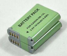 new 2pcs NB-12L NB12L Battery for PowerShot N100 G1X G1X Mark II 2 cameras High